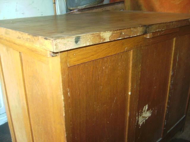 Ancien petit bureau administratif - Petit bureau ecolier en bois ...