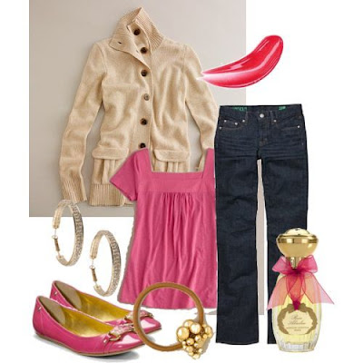 Polyvore Outfits Pink Skirt