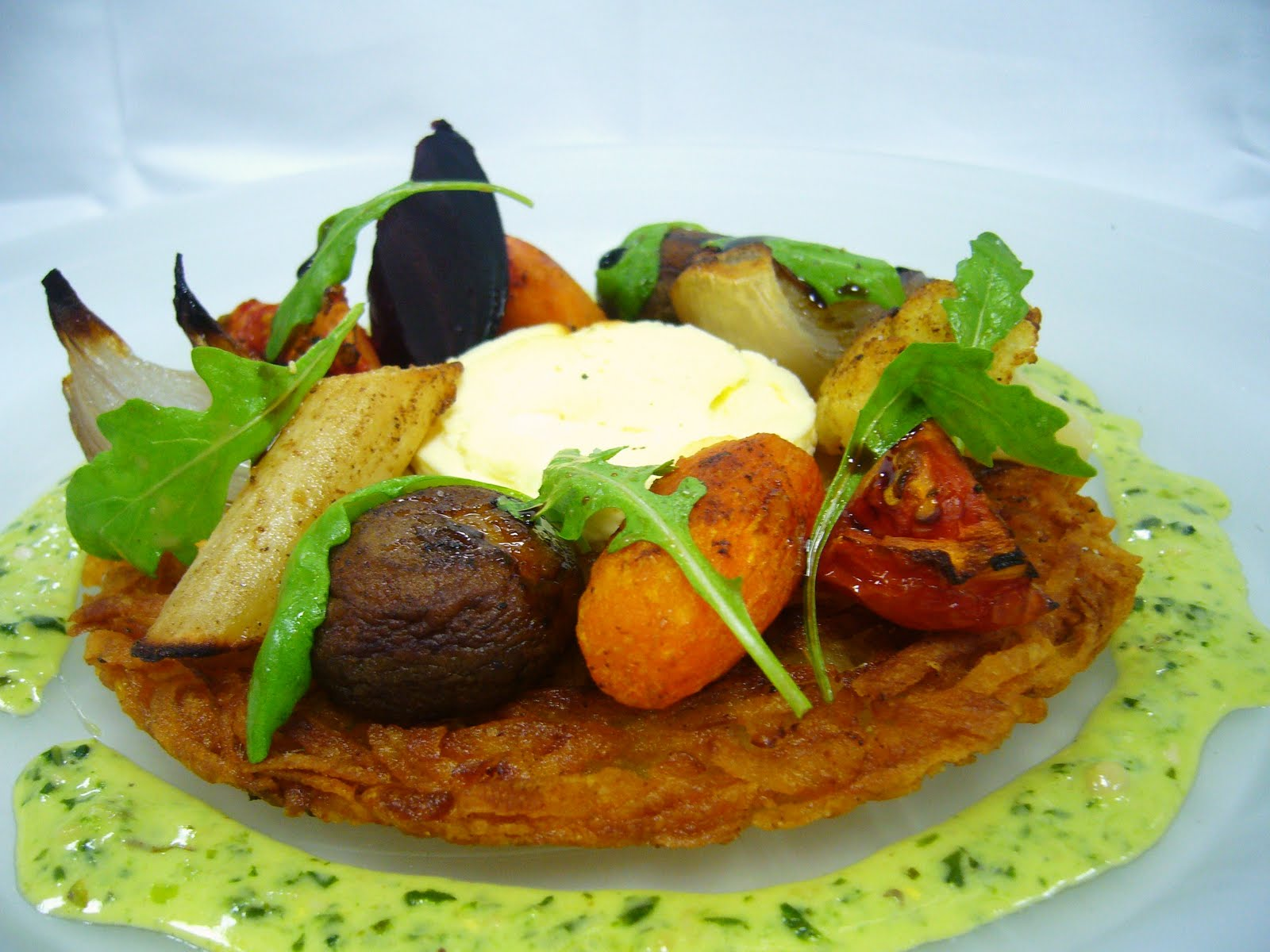 Here is a vegetarian dish i have recently designed for the bistro menu  It  is an easy pick up for that service demand and is also very tasty and hits  the  Strictly Fine Dining  November 2010. Fine Dining Vegetarian Dishes. Home Design Ideas