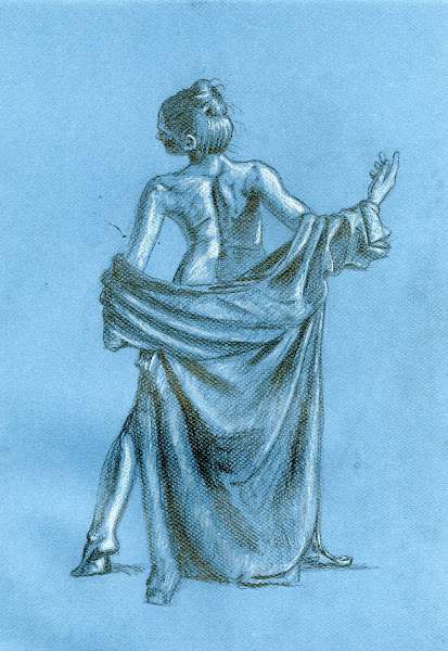 Study with Canson Paper, Pencil, and Color Pencil