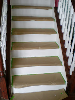 Painting Risers Wood Stairs