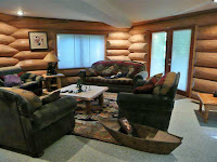 Interior image of Alpine Meadows custom log home