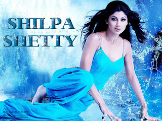 Shilpa Shetty looking gorgeous in  blue dress Wallpaper