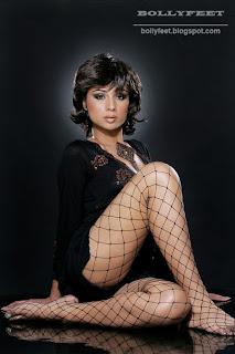 Indian model in fishnet portfolio shoot