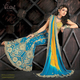 Indian model in designer saree