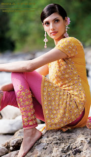 Indian fashion model modelling for a Salwar Suit