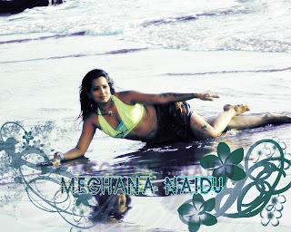 Meghna Naidu on the beach wallpaper