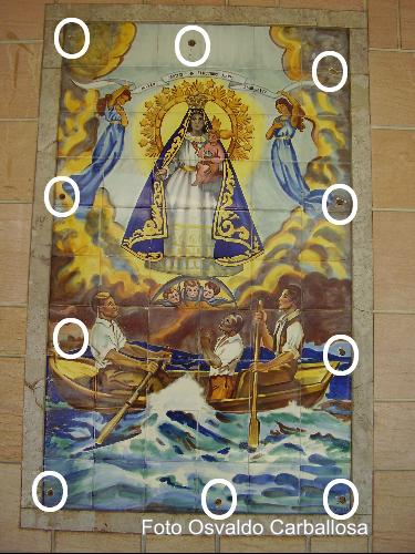 Virgen de la Caridad en Porcelana Valenciana