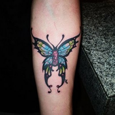 Tattoo Kupu-Kupu di Tangan - Butterfly Tattoo