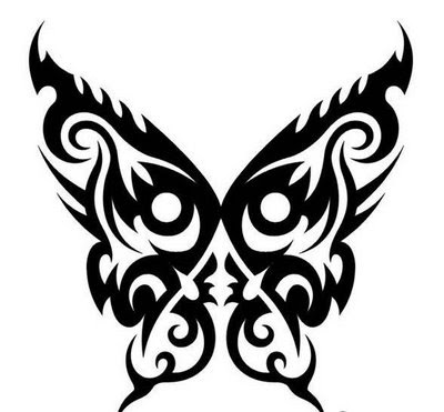 TRIBAL BUTTERFLY TATTOO TATTOO, TRIBALL TATTOO, TREND TATTOO 2010
