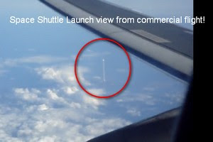 Space Shuttle Launch Vew From Commercial Flight