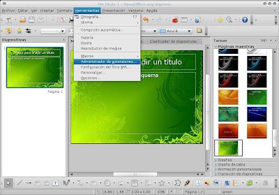 Plantilla para tus presentaciones de openoffice bloggin red - Open office impress templates ...