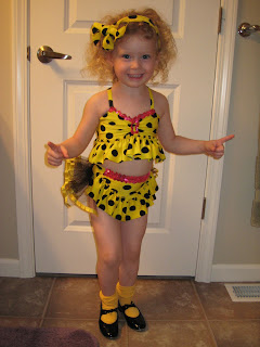 Yellow Polka Dot Bikini Dance