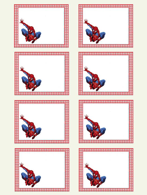Creazioni cla etichette grandi for Spiderman da stampare gratis