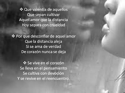Amor  ala distancia versos