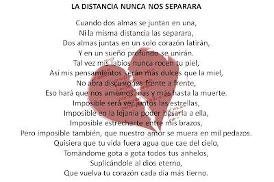 Poemas cortos de amor a la distancia