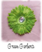 "4"" Green Gerbera"