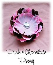"4"" Pink and Chocolate Peony"