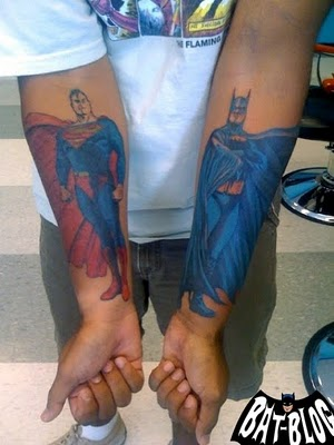 superman tattoo designs on Tattoo Update: Batman And Superman Tattoo