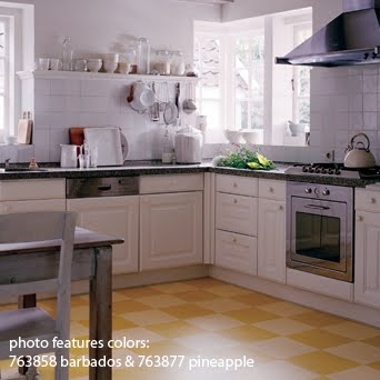 Marmoleum Tiles In Kitchen : Marmoleum Click is green and great for comfortable family spaces