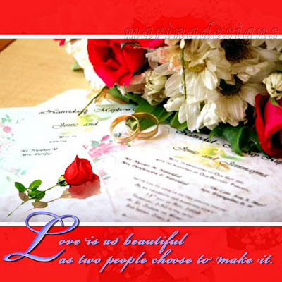 Valentines/Quotes Design Card (Red Roses with bundle of flowers)