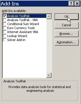 how to add data analysis in excel 2011