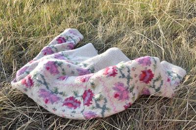 floral wool cardigan