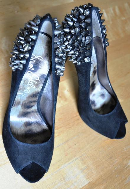Sam Edelman Studded Embellished Lorissa Peeptoes