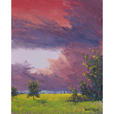 original painting,impressionist,storm clouds
