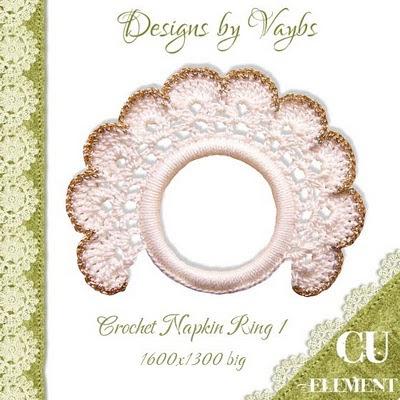 Crochet Napkin Ring Patterns - Napkin Ring Crochet Patterns