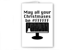 Christmas and holiday cards for geeks