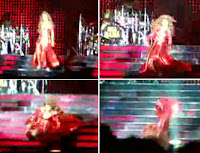 Beyoncè takes a tumble but gets right back up again. Badass!