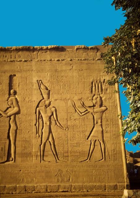 Detalle pilono templo de Edfu