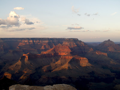 Atardecer en Shoshone Point dentro del Gran Cañon del Colorado