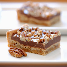 CHOCOLATE TOFFEE PECAN BARS