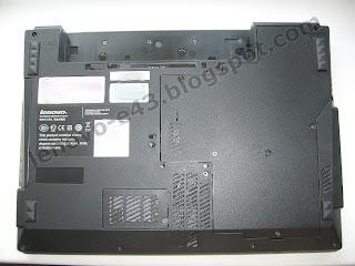 Lenovo E43 - вид снизу без аккумуляторной батареи