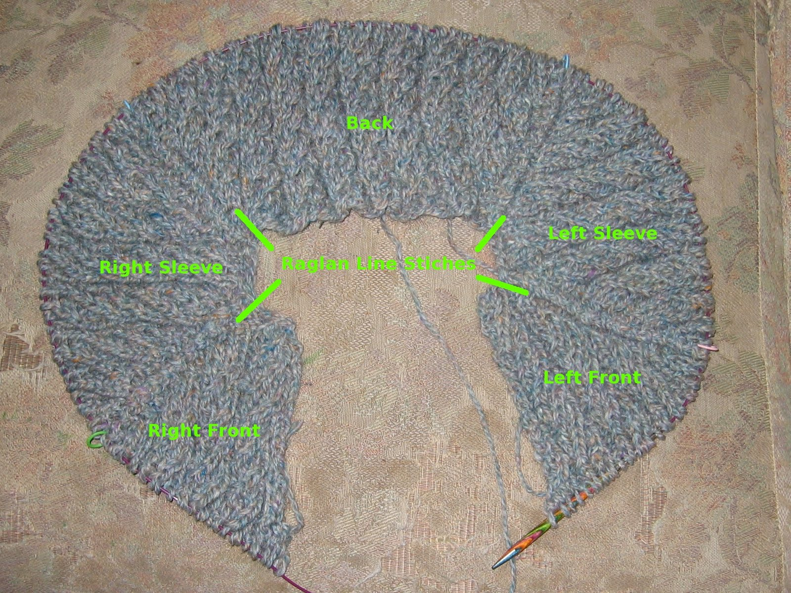 Knitting Increasing Stitches Make One : Knitting Outside the Lines: Top-Down Design Tutorial 9: Figuring the Raglan Yoke