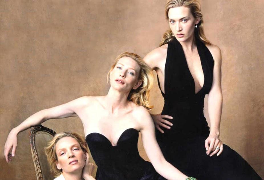 broadcastonwax: Uma Thurman, Cate Blanchett & Kate Winslet - Vanity ... Uma Thurman