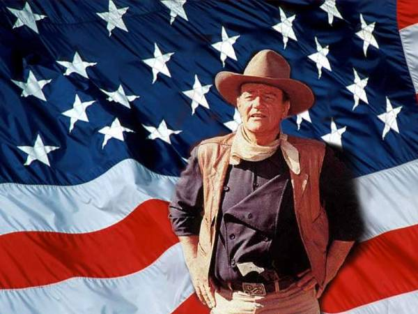 John Wayne and The American Flag