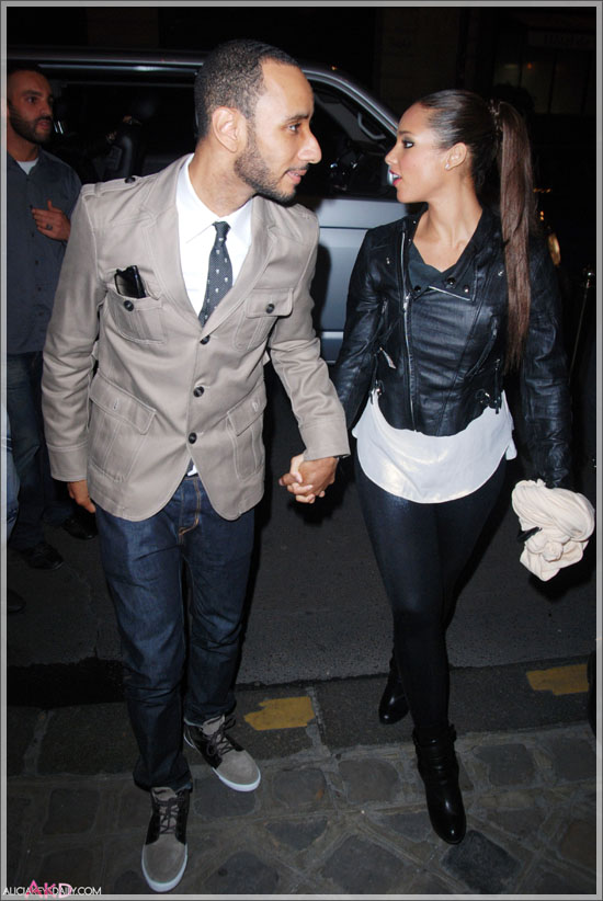 of an upcoming weekend wedding for Alicia Keys and Swizz Beatz