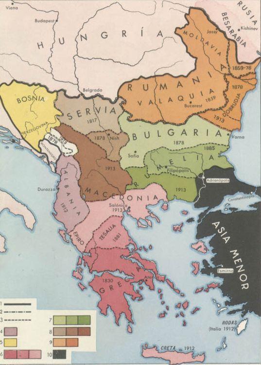 El pasado del tiempo Mapas de Europa en el siglo XIX