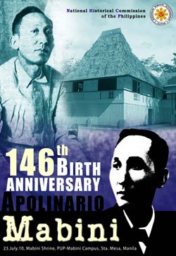 "the conscience and brains of the philippine revolution ← rizal, reformist or revolutionary and appeal to the public conscience ""the philippine revolution,"" mabini."