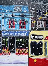 """Charlie's Flowers"", Toronto street scene"