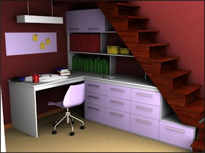 Grupo impronta dise o biblioteca escritorio para habitaci n for Mueble bajo escritorio
