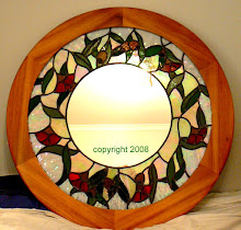 Eucalyptus Blossom mirror approx 950mm diameter  SOLD