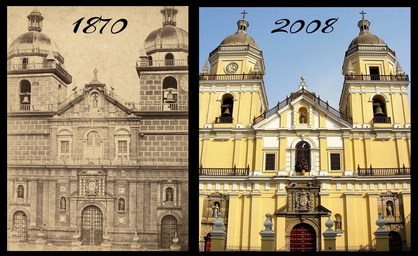 FOTO - Año 1870 - 2008 - Fachada de la Iglesia de San Pedro