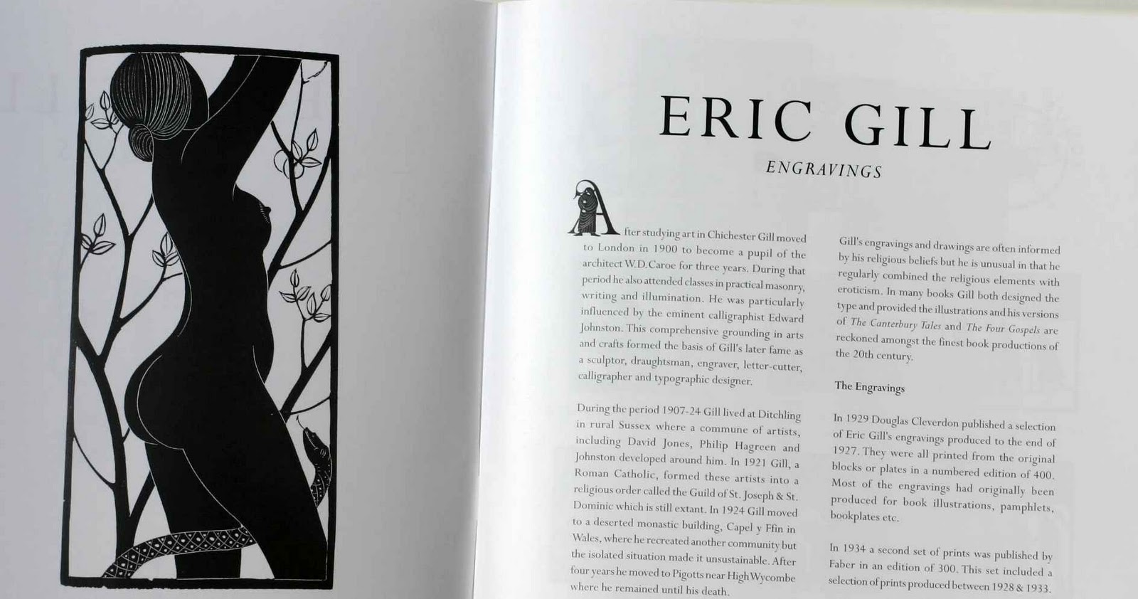 the life and path towards graphic designing of eric gill Lettering: the work of eric gill, edward johnston and douglas/hilary pepler i am a great admirer of the stone letter carving work of eric gill, the acknowledged master of that craft.