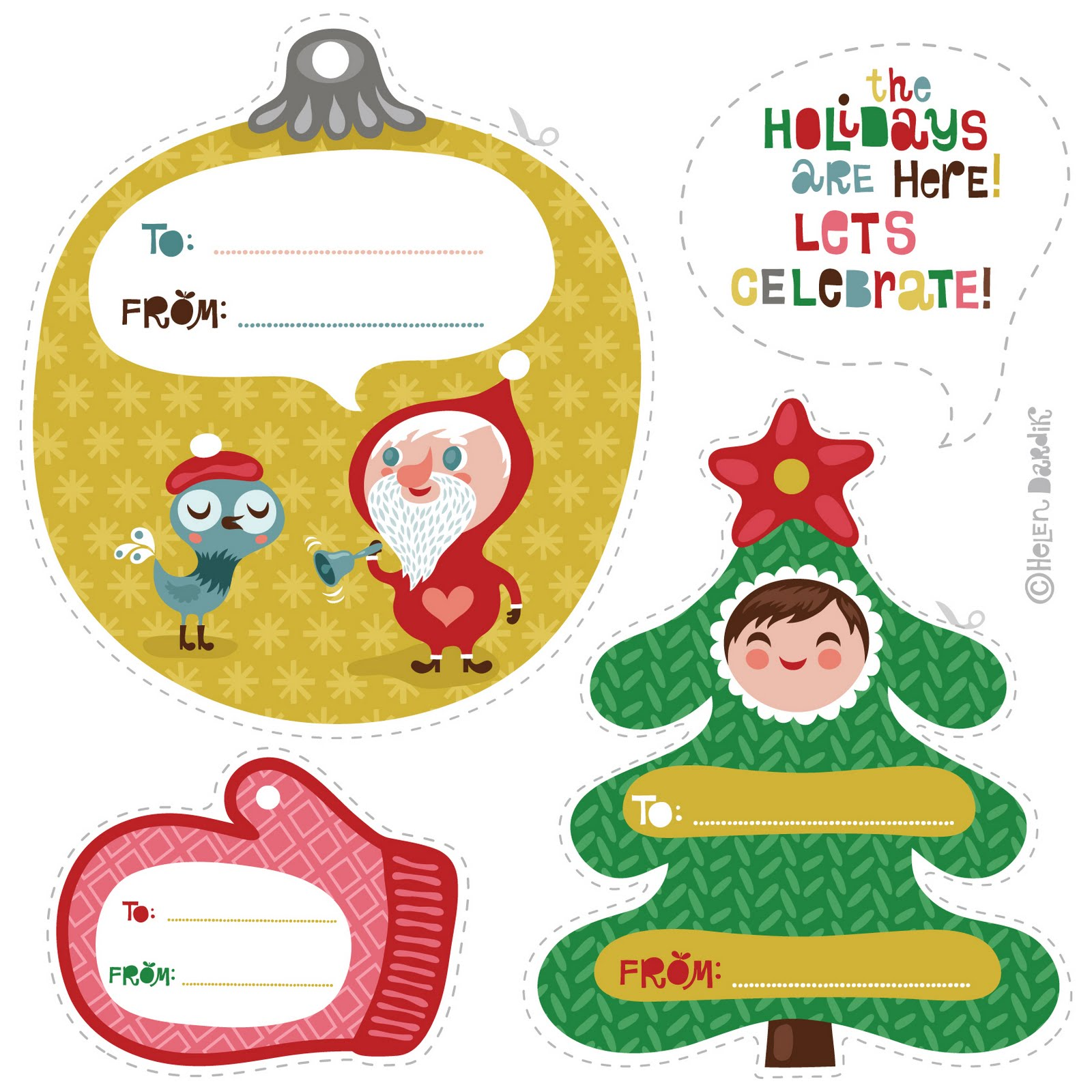 Ultimate Collection of Free Printable Christmas Gift Tags | Frugal ...