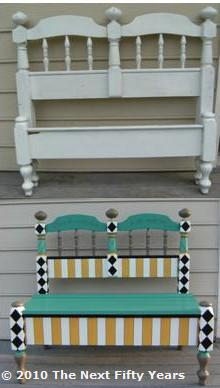 Before and After - Headboard Bench