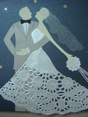 Lin Handmade Greetings Card Pop up wedding cake